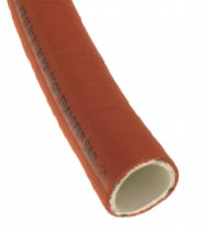 Click to enlarge - Orange brewers suction/delivery hose, wire reinforced and suitable for a variety of foodstuffs and beverages. Unique construction makes this a very flexible hose.